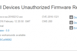 A flaw in CISCO Universal Small Cell allows firmware retrieval