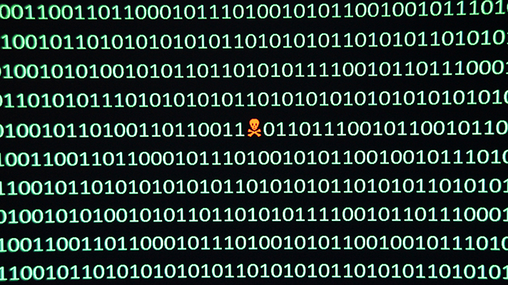 Security exploit in a string of binary code