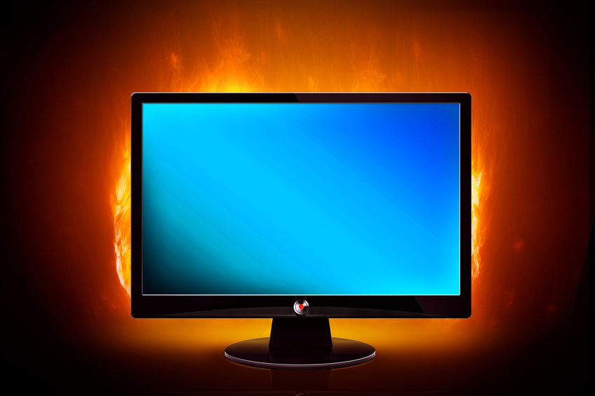 Monitor on Fire