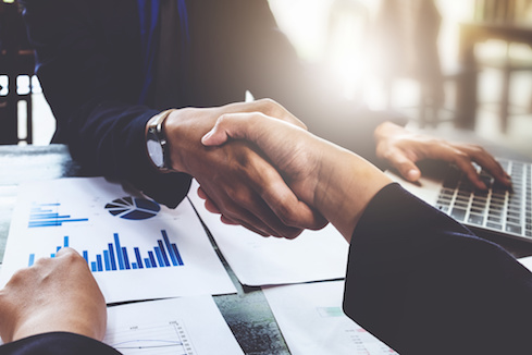 Business partnership consult and meeting concept. Image businessmans handshake. Successful businessmen handshaking after good deal. meeting concept.