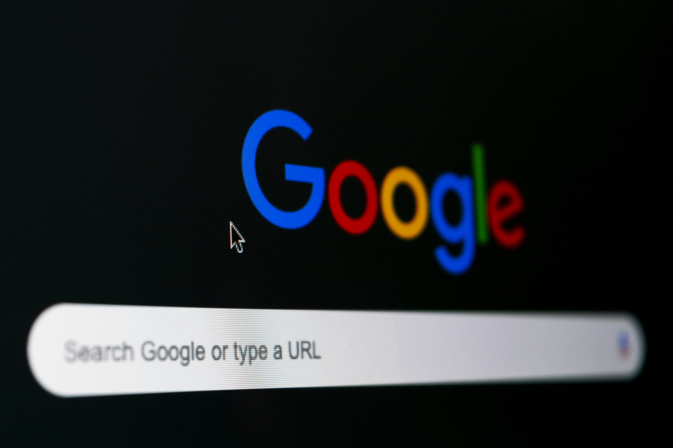 Helsinki, Finland, March 30 2019: Google search homepage on the